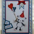 Linda Heavens - party bear heart balloons
