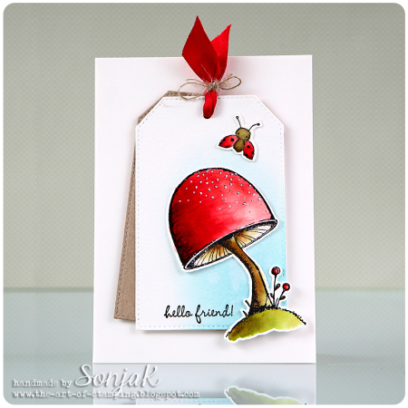 Sonja Kerkhoffs Toadstool Hello Friend Card