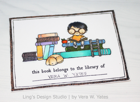 Vera Yates - Bookplate Card