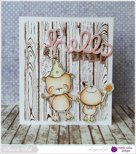 Susen Srb - Happy and Bubbly Hello Card