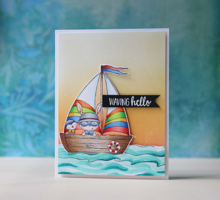Laura Bassen - SS Minow Waving Hello Card
