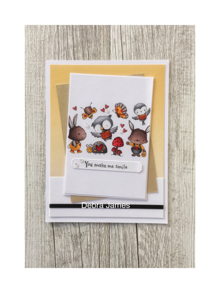 Debra James - you make me smile card