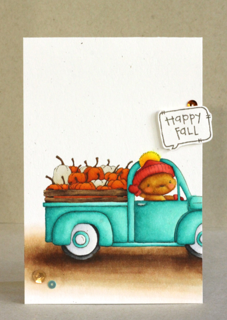 Alice Wertz - Old Betsy and Pumpkins Card