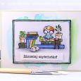 Agnieszka Danek-Wisniak - Bookplate Card sentiment