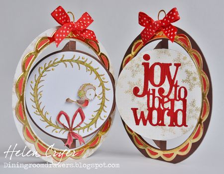 Helen Cryer - Wreath Joy to the World Card