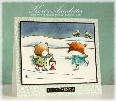 Karin Akesdotter - Henry & Grace Let It Snow Card - side