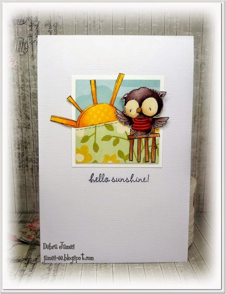Debra James - Ruby Hello Sunshine Card