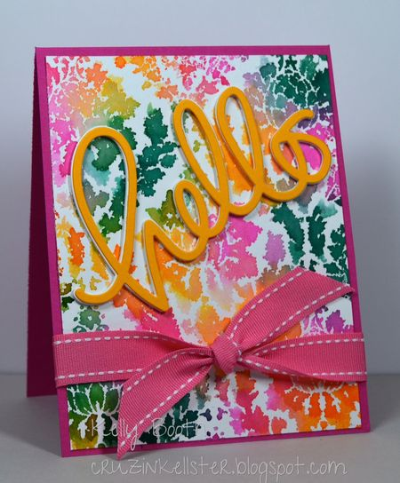 Kelly Booth - Damask Card