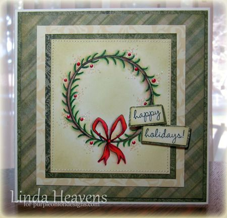 Linda Heavens - Wreath Card
