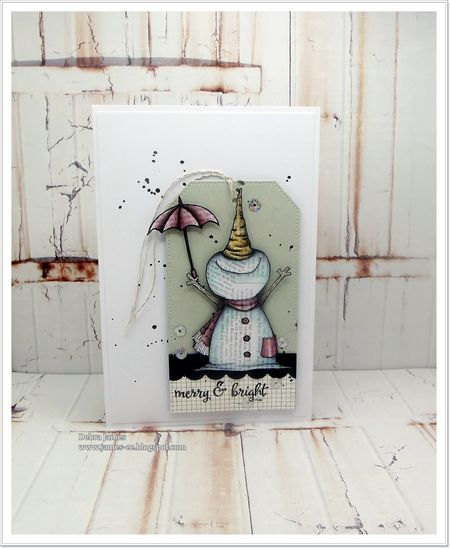 Debra James - Jolly Umbrella Card