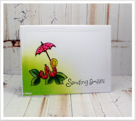 Debra James - Sending Smiles Love Bug Card