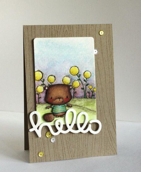 Alice Wertz - Bobby Blooms Hello Card
