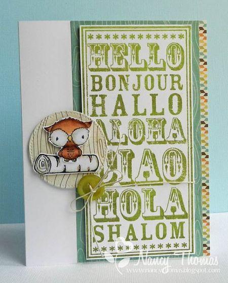 Nancy Thomas POD Hello NB Shadow