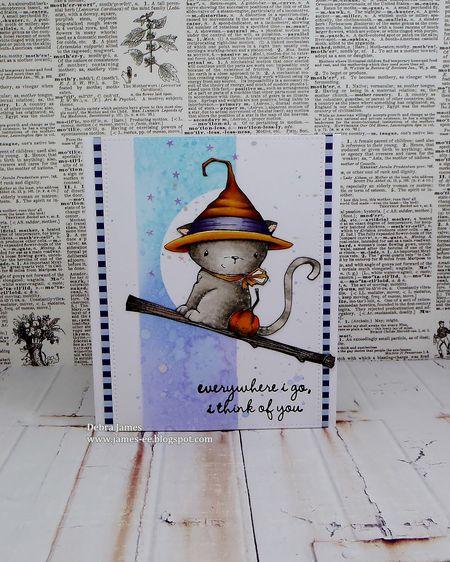 Debra James - Midnight Broomstick Card
