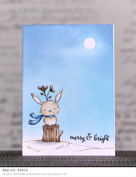 Marika Rahtu - Fawn Merry and Bright Card