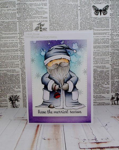 Debra James - Santa Card