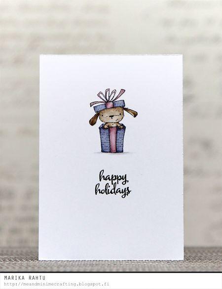 Marika Rahtu - Elm Happy Holidays Purple Card