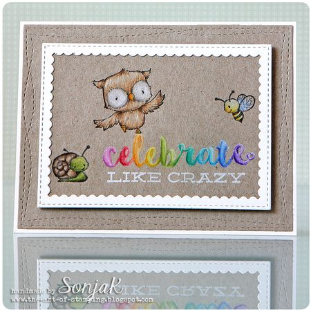 Sonja Kerkhoffs - Celebrate Like Crazy Lilly Sprout Honey Card