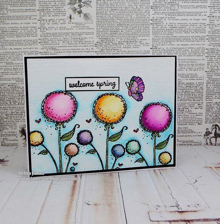 Debra James - Sunny Blooms Card