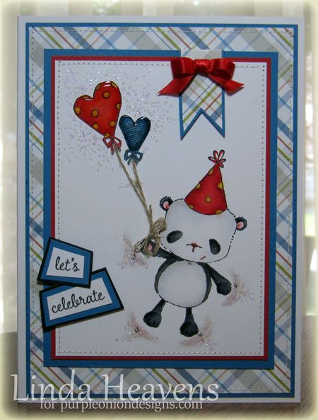 Linda Heavens - party bear heart balloons