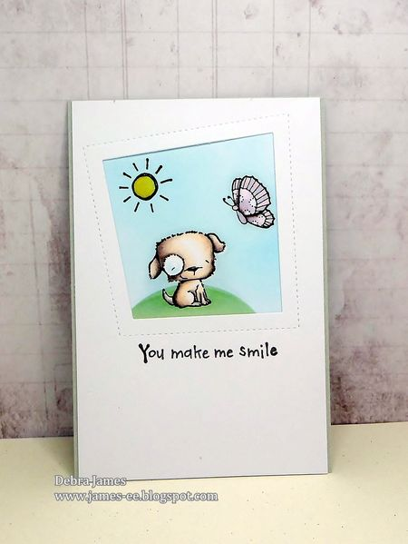Debra James - Puddles You Make Me Smile Card
