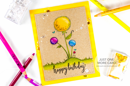 Julia Altermann - Large Blooms Happy Birthday Card