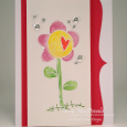 Tracy MacDonald - Heart Flower Card