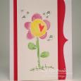 Tracy MacDonald - Heart Flower Card