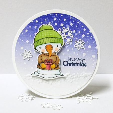 Donna Mikasa - Flurry Merry Christmas Card
