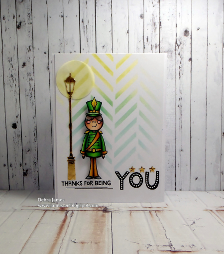Debra James - Toy Solider and Marquee Sentiment Card
