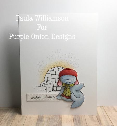 Paula Williamson - Snowcap and Igloo Card