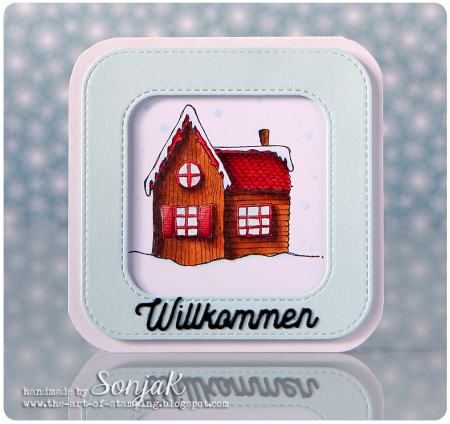 Sonja Kerkhoffs - New Home Pine House Card