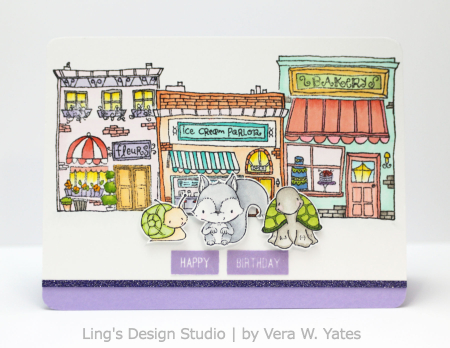 Vera Yates - Hometown Chip Petal Card