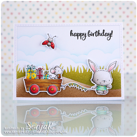 Sonja Kerkhoffs - Willa and Wagon Birthday Card