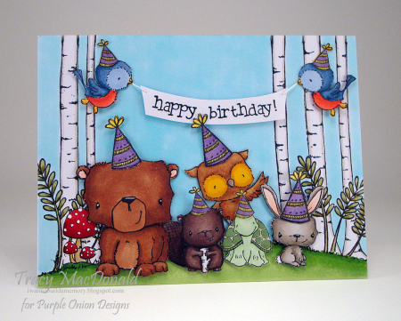 Tracy MacDonald - Party Critters Card