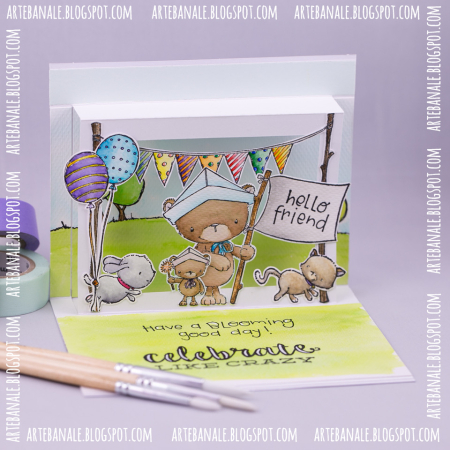 Agnieszka Danek-Wisniak - Bursting with Pride Pop Up Card