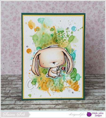 Susen Srb - Rosie Watercolor Background Card