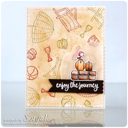 Sonja Kerkhoffs - Enjoy the Journey Luggage Set Card