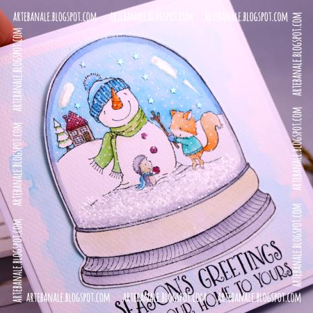 Agnieszka Danek-Wisniak - Winter Friends Card - detail