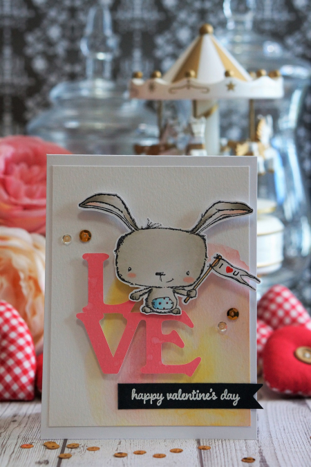 Sally On - Poppy Valentine  Card