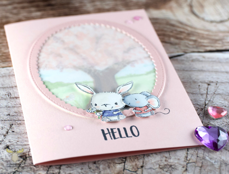 Sandra bischoff - chloe and charlotte spring card
