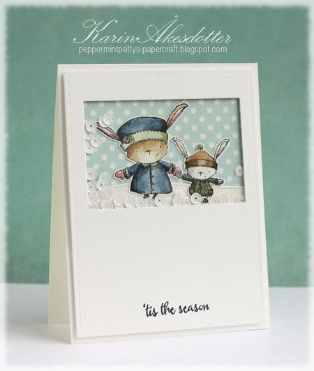 Karin Akesdotter - Cora and Thomas shaker card - side