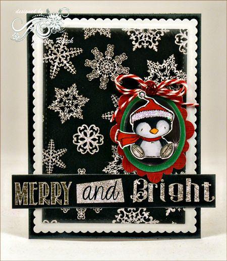Jen Roach - Stacey Y Penguin trendy chalkboard card