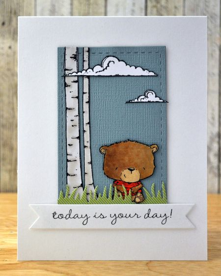 Judity Gowdy - Johnny and Birch Tree Card