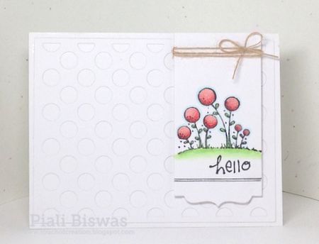 Piali Biswas - Hello Blooms Card