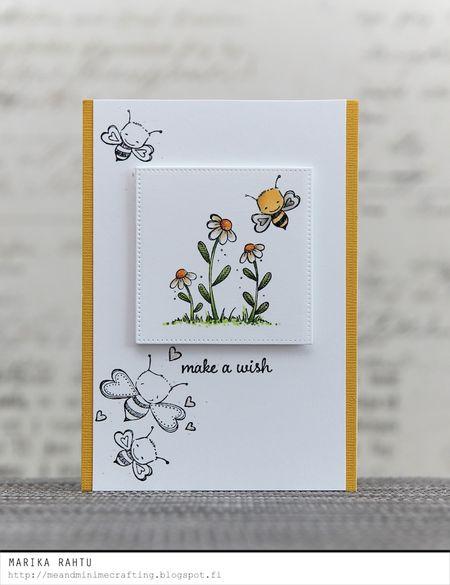 Marika Rahtu - Blooms and Bee Mine Card