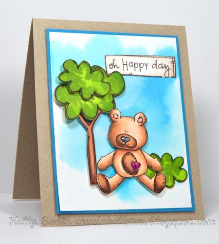 Kelly Booth - Sam and tree Oh happy Day Card - right