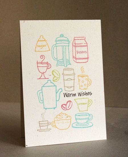 Alice Wertz - Warm Wishes Coffee Card