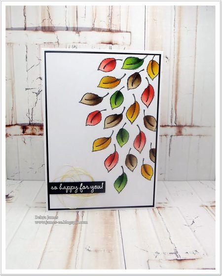 Debra James - Doodle Foliage Card