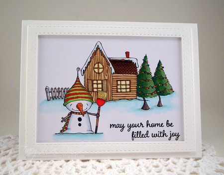 Tracey MacDonald - Snow and Pine House Card